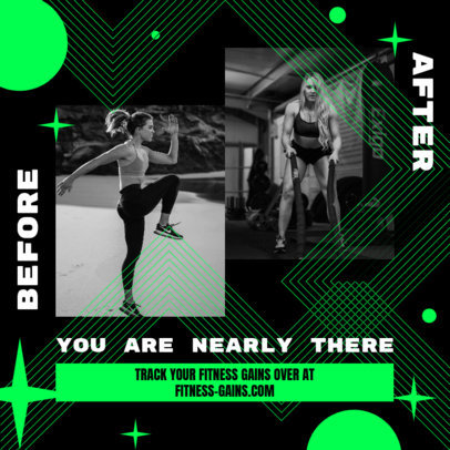 Instagram Post Template for a Fitness & Training Website 3639b
