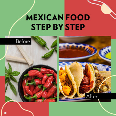 Instagram Post Design Maker Featuring Mexican Food Recipes 3640a