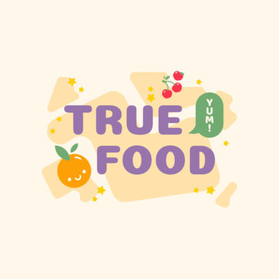 Logo Maker for Organic Products Featuring Cute Fruit Graphics 4316