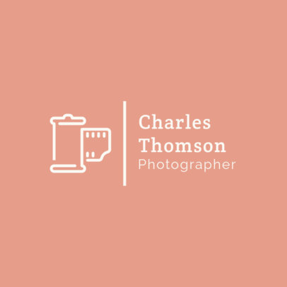 Modern Logo Creator for a Photographer 1498g 263-el