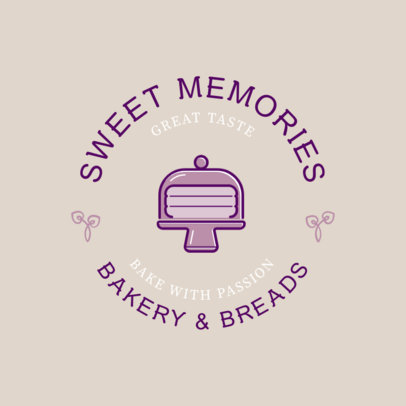 Bakery Logo Generator with a Cake Graphic 220d-el