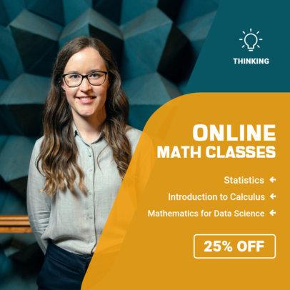 Education-Themed Instagram Post Generator for Math Teachers 3842a-el1