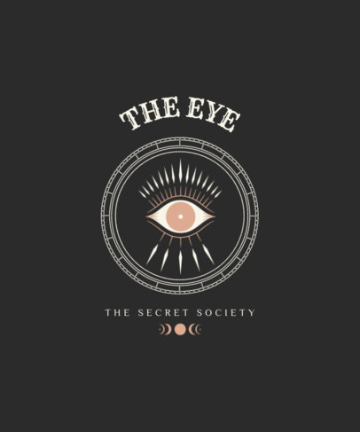 Esoteric T-Shirt Design Template Featuring a Mystical Eye Graphic 3893b-el1