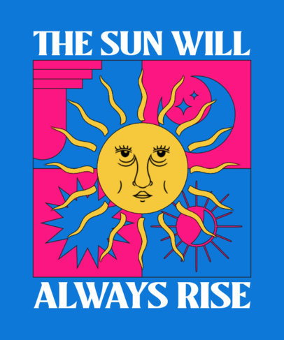 T-Shirt Design Generator with a Sun Illustration Inspired by The Tarot 3891b-el1