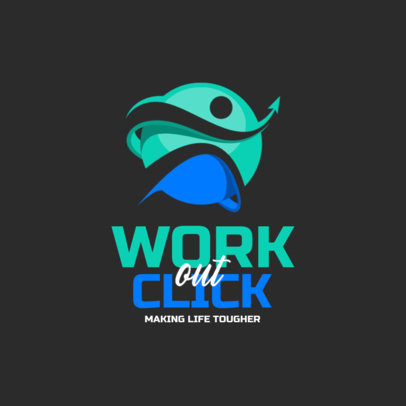 Logo Maker for a Fitness Brand with an Abstract Graphic 3901e-el1