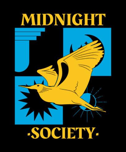 T-Shirt Design Template Featuring an Illustration of a Bird 3891c-el1