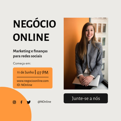 Business-Themed Instagram Post Design Creator Featuring Portuguese Text 3887c-el1