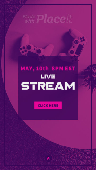 Instagram Story Video Creator to Announce a Gaming Live Stream 1602a 3277-el1