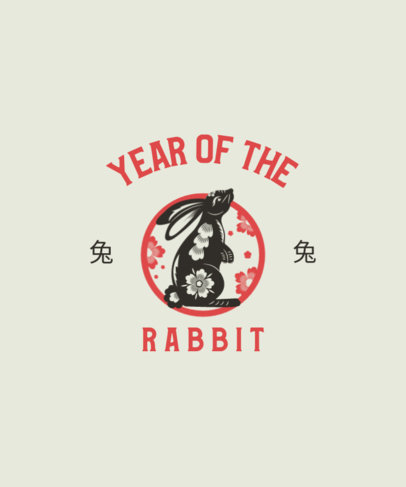 T-Shirt Design Generator Featuring a Year of the Rabbit Graphic 3646e