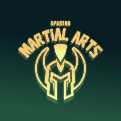 Logo Maker for Gaming Streamers Featuring a Spartan Warrior Helmet 4326b
