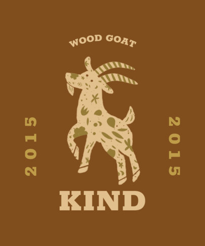 T-Shirt Design Maker Featuring a Year of the Goat Theme 3645f