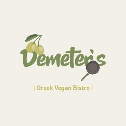 Online Logo Maker for a Vegan Restaurant 4315b