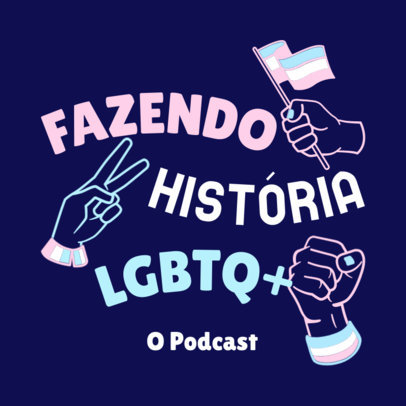 Empowering Podcast Cover Creator for an LGBTQ History-Themed Production 4320C