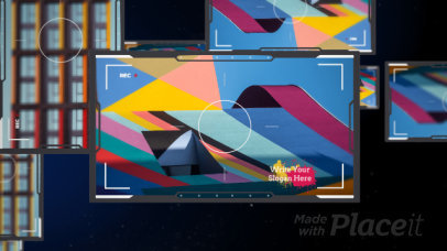 Slideshow Video Maker Featuring Video Camera Frames 2988-el1