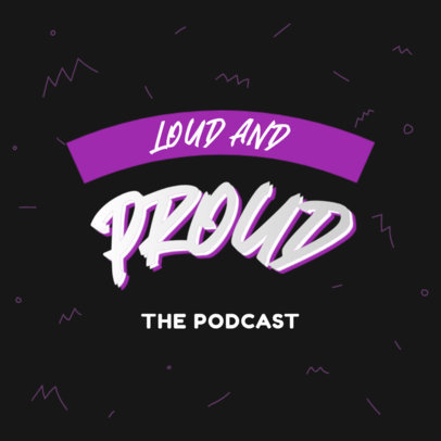 Fun Typography Logo Generator for an LGBTQ Podcast 4323f