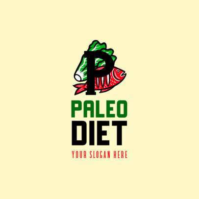 Logo Generator Featuring Paleo Diet Meal Graphics 4318b