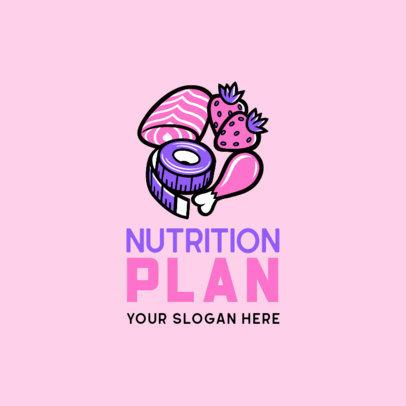 Online Logo Creator for a Custom Nutrition Plans Brand 4318h
