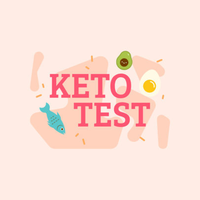 Logo Maker for Keto Products Featuring Food Graphics 4316c