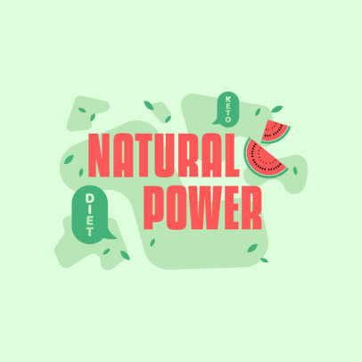 Logo Generator for Keto Dietary Supplements Featuring Watermelon Graphics 4316e