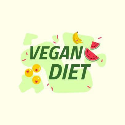 Vegan-Themed Logo Generator Featuring Fruit Graphics 4316k