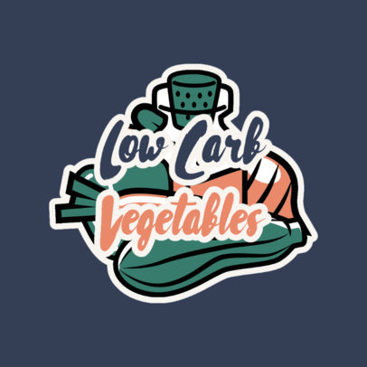 Dietary Products Brand Logo Creator Featuring Vegetables 4317f