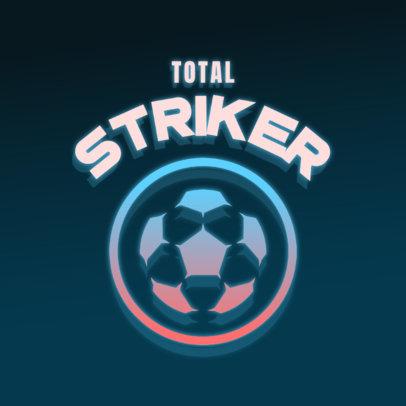 Neon-Styled Soccer Team Logo Generator 4326h
