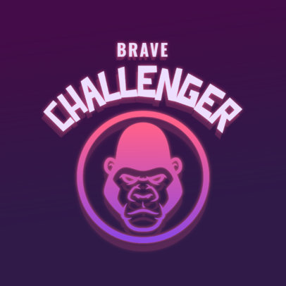 Mascot Logo Maker for Gamers with a Gorilla Graphic 4326i