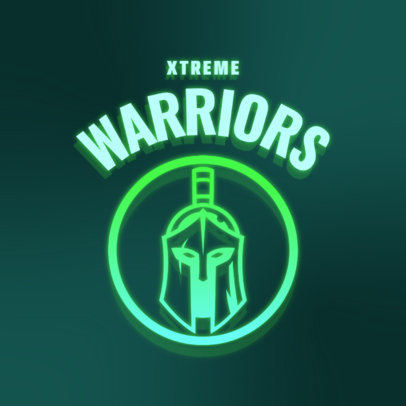 Gaming Logo Maker with a Warrior Graphic in a Neon Light Style 4326j