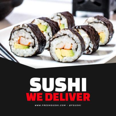 Instagram Post Design Maker for a Sushi Restaurant's Offer 3540d-el1
