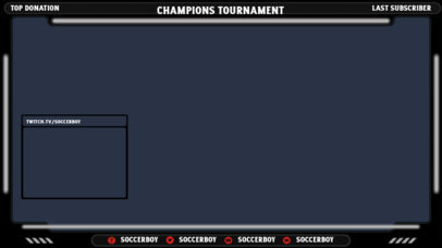 Modern Twitch Overlay Design Template for a Sports Games Streamer 3663