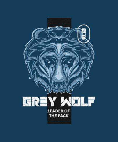 T-Shirt Design Template Featuring a Wild Animal Illustration 2716b-el1