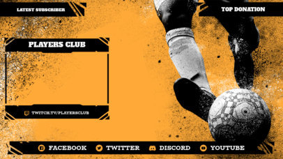 Twitch Overlay Design Template with a Soccer Theme 3664