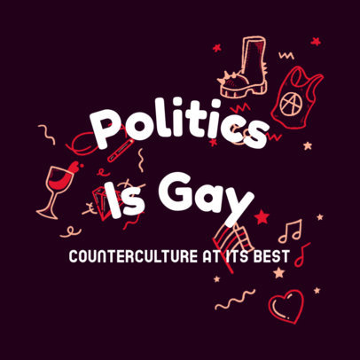 Daring Podcast Cover Generator for an LGBTQ-Themed Episode 4320e