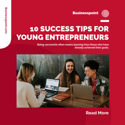 Instagram Post Template with Tips for Young Entrepreneurs 3930c-el1