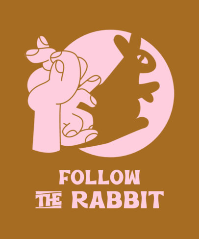 Illustrated T-Shirt Design Creator with a Rabbit Hand Shadow Puppet 3674b