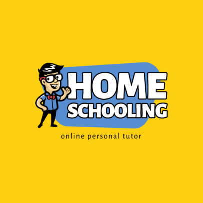 Logo Maker for a Personal Tutor with a Cartoonish Character 3940-el1