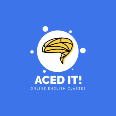 Logo Template for an Online English School 3934a-el1