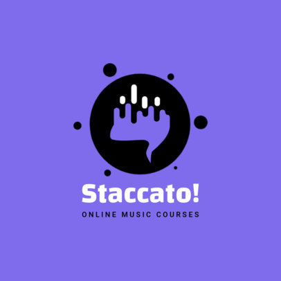 Logo Creator for an Online Music School 3934e-el1