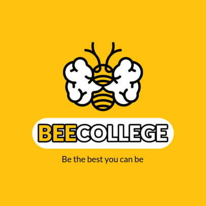 Brain-Themed Logo Maker for a School with a Bee Graphic 3926d-el1