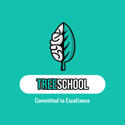 Education Logo Maker with a Brain-Shaped Leaf Graphic 3926f-el1