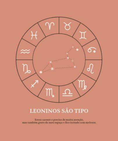 Astrology T-Shirt Design Creator Featuring a Portuguese Quote 3920b-el1
