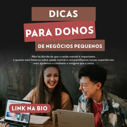 Instagram Post Design Creator for Portuguese-Speaking Entrepreneurs  3928d-el1