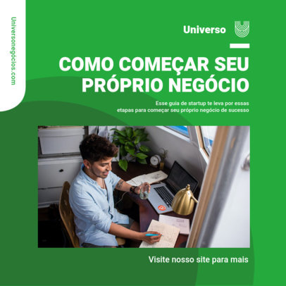 Instagram Post Creator with Business Tips In Portuguese 3930b-el1