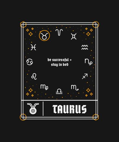T-Shirt Design Generator with a Horoscope for Taurus 3916c-el1