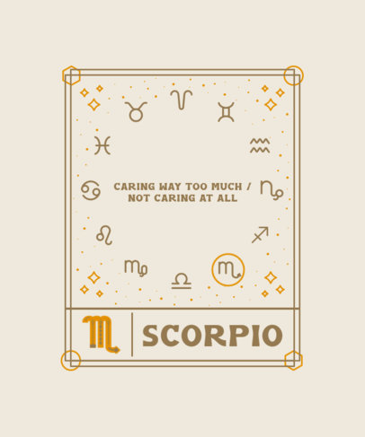Astrology-Themed T-Shirt Design Creator with a Quote About Scorpios 3916e-el1
