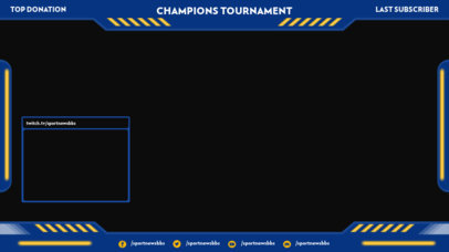 Twitch Overlay Generator for a Sports Tournament Streaming 3663c
