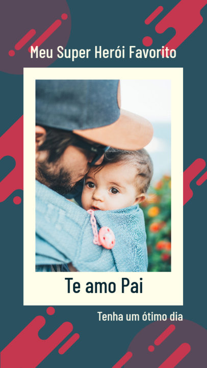 Instagram Story Maker to Celebrate Father's Day Featuring an Abstract Background 3667f