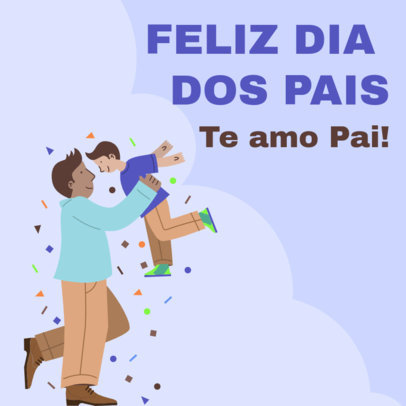 Instagram Post Generator With a Portuguese Quote for Father's Day 3666c