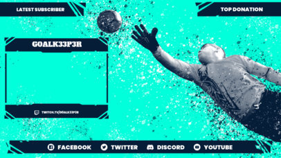 Sports-Themed Twitch Overlay Design Maker with Soccer Graphics 3664c