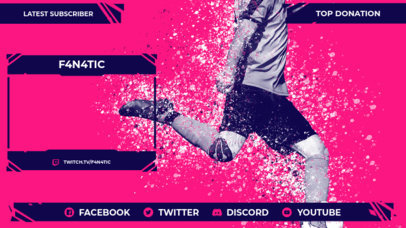 Soccer-Themed Twitch Overlay Design Generator with Realistic Graphics 3664e